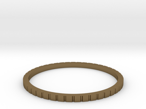 Lined Ring 16.7mm in Polished Bronze