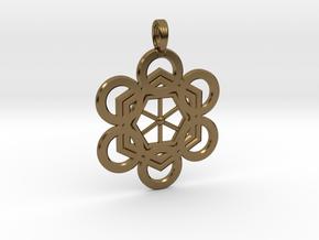 META-ENERGY GRID in Polished Bronze
