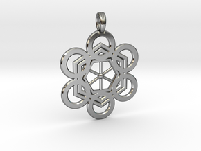 META-ENERGY GRID in Fine Detail Polished Silver