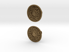 Celtic Round Knot Cufflinks in Natural Bronze