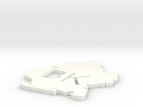 Brooklyn Coaster in White Processed Versatile Plastic