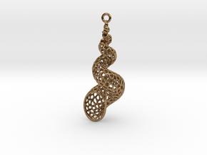 Turitella SeaShell Voronoi Pattern - elongated in Natural Brass