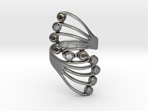 Butterfly Wing Ring Size 10 in Polished Silver
