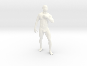 Strong male body 004 scale in 10cm in White Processed Versatile Plastic
