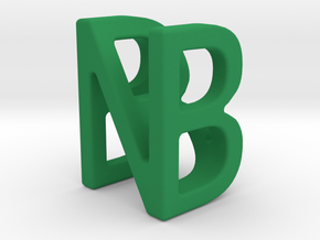 Two way letter pendant - BN NB in Green Processed Versatile Plastic