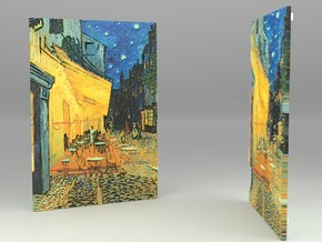 Cafe Terrace At Night (Vincent van Gogh) in Full Color Sandstone