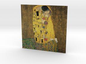 The Kiss (Gustav Klimt) in Full Color Sandstone