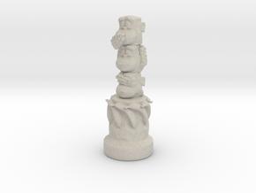 Three Wise Monkeys Totem in Natural Sandstone