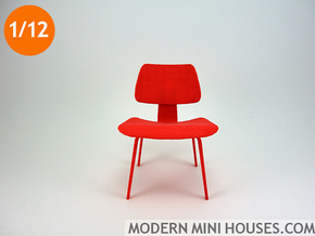 Eames Dining Chair 1:12 scale in Red Processed Versatile Plastic