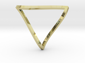 Penrose Triangle - thin in 18k Gold Plated Brass