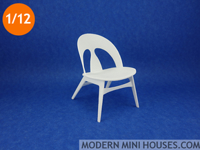Erhard Rasmussen Shell Chair 1:12 scale in White Processed Versatile Plastic