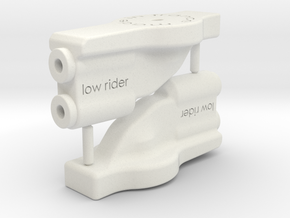 B5M low rider wing mount in White Strong & Flexible