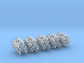 Railway Spikes (5 Pack) 1:12 Scale in Smooth Fine Detail Plastic