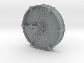 Cheese Wheel Clock (rotating) in Polished Metallic Plastic
