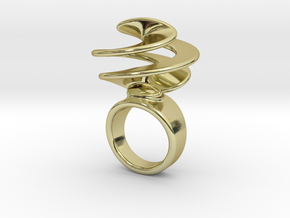 Twisted Ring 29 - Italian Size 29 in 18k Gold Plated Brass