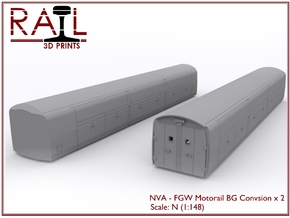 2 x N Scale Motorail - FGW Conversion in Smooth Fine Detail Plastic