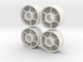 Front wheels D19+1 x4 in White Strong & Flexible