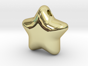 Cute candy STAR (with hole) in 18k Gold