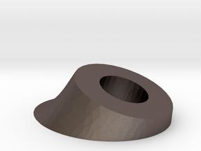 Ear Base in Polished Bronzed Silver Steel