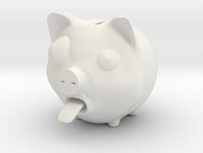 Piggy Banker in White Natural Versatile Plastic