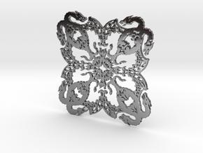 Dragonflake 2 - 2mm depth in Fine Detail Polished Silver