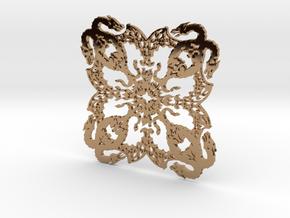 Dragonflake 2 - 2mm depth in Polished Brass