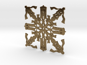 Doctor Who: Fourth Doctor Snowflake in Polished Bronze