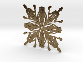 Doctor Who: Eleventh Doctor Snowflake in Polished Bronze