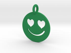 Smilie Love in Green Processed Versatile Plastic