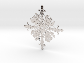Shipflake #1 in Rhodium Plated Brass