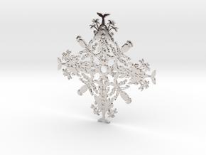 Hawaii Snowflake in Rhodium Plated Brass