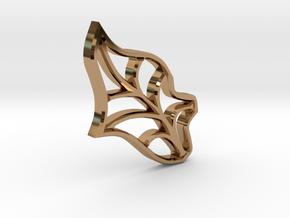 Single Leaf - Tiling the Plane - Multi-use  in Polished Brass
