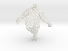 Fat man in 20cm in White Strong & Flexible Polished