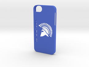 iPhone 5/5s Case Molon Lave2 in Blue Strong & Flexible Polished