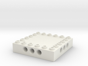 CustomMaker BrickFrame 6x6x3 With Axle Mounts in White Natural Versatile Plastic
