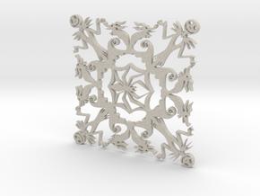 Nightmare Before Christmas Snowflake Coaster in Natural Sandstone