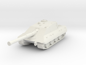 Panzerkampfwagen E-100 Krokodil Tank Destroyer (1/ in White Natural Versatile Plastic