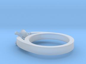 Ø16.80 Mm Diamond Ring Ø5.9 Diamond Fit Model F in Smooth Fine Detail Plastic