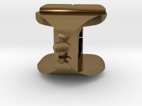I♥U Shape 2 - View 1 in Polished Bronze