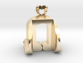 I♥U Shape 2 - View 3 in 14k Gold Plated