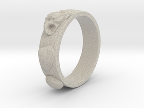 Urchin Ring 1 - US-Size 2 1/2 (13.61 mm) in Natural Sandstone