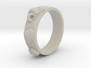 Sea Shell Ring 1 - US-Size 2 1/2 (13.61 mm) in Natural Sandstone