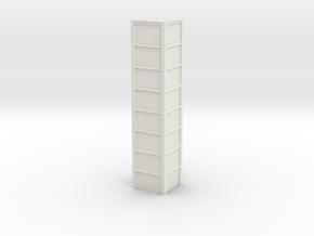 'N Scale' - 8'x8'x40' Loadout Bin in White Natural Versatile Plastic