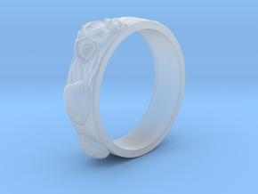 Sea Shell Ring 1 - US-Size 4 (14.86 mm) in Smooth Fine Detail Plastic