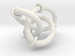 Figure8Knot And Sliding Tori 7 12 2015 in White Natural Versatile Plastic