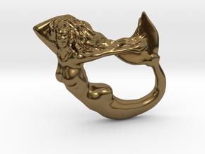 Mermaiden Fair - Mermaid Pendant in Polished Bronze