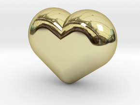 Cute candy HEART in 18k Gold Plated Brass