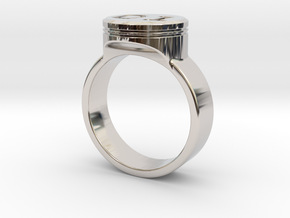 """General Lee """"01"""" Driver Ring - Size 22.2mm ID in Rhodium Plated Brass"""