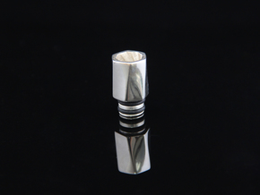 HEX TORQUE Driptip: Stainless Steel in Polished Bronzed Silver Steel