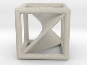 Segre embedding in a cube (XXL). in Natural Sandstone